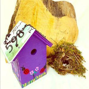 Handmade Hanging Birdhouse.